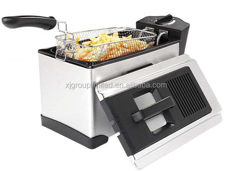 home deep fryer with detachable oil tank and lid XJ-09135