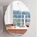 7021 Simple design shiny polish stainless steel bathroom single door mirror cabinet