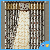 Latest Design Hot selling Polyester window curtain , curtain for living room , made in China