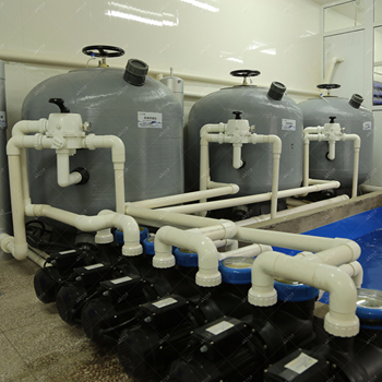 Sand filter for recycling water aquaculture