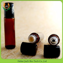 Color essential oil perfume glass roll on bottle black