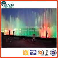 Build light changing water fountain laser pool fountain