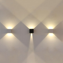 Square 6W Indoor/Outdoor LED Decorative Wall Mount Light