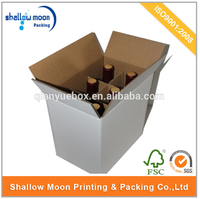 wholesale high quality custom design 6 bottle cardboard wine box with cheap price