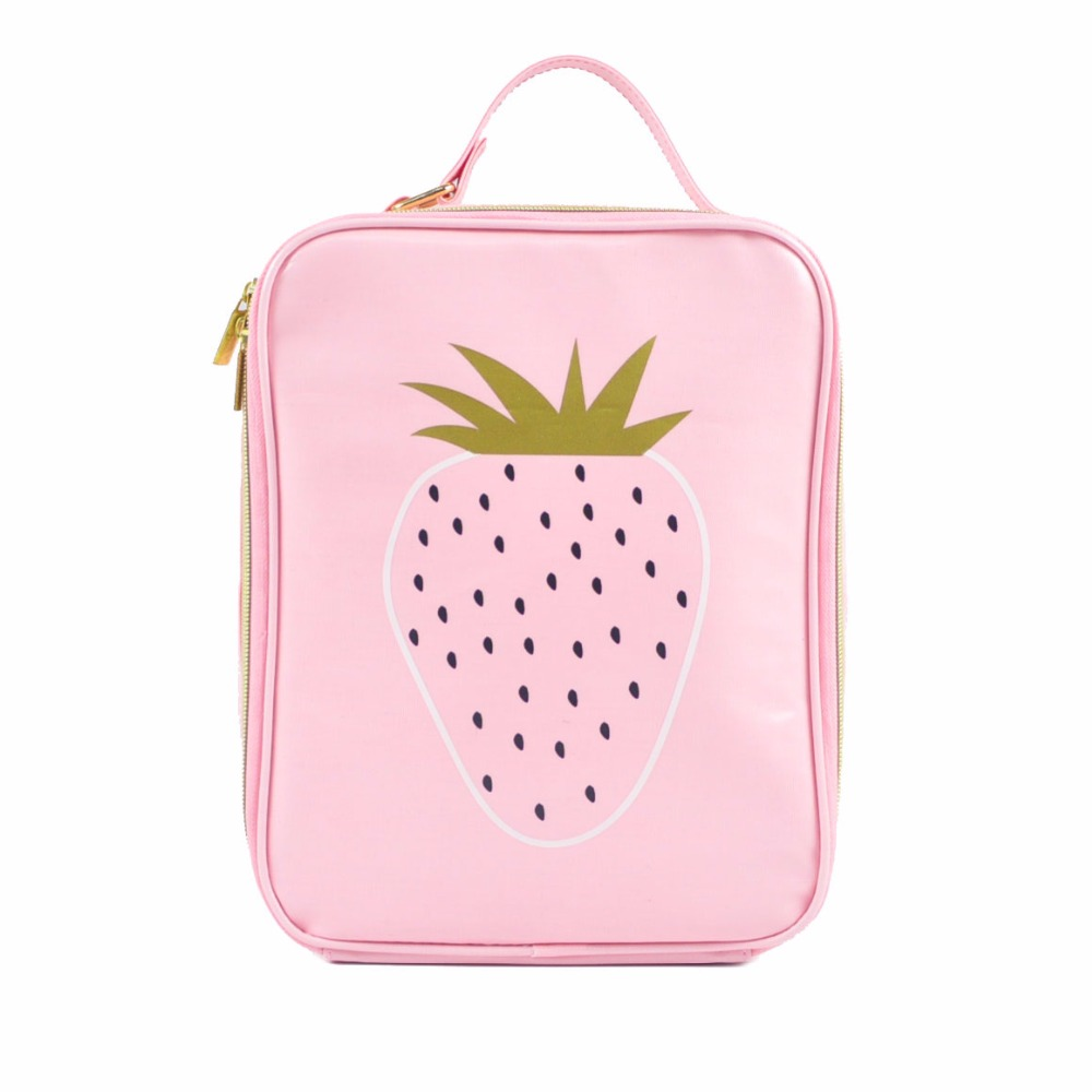 Strawberry Lunch Bag Insulated Ice-Cream Lunch Bag for kids