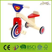 Kids Wooden Trike for Riding Training Education Indoor and Outdoor