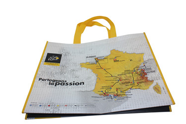 Promotional Glossy Lamination Non Woven Trade Bag non woven polypropylene tote bag