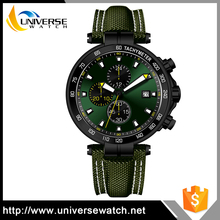 Multiple Time Zone Watches Men Sports Military Wrist Watch with Day/Date