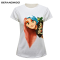Fashion White Women Custom Cotton Short Sleeve t shirt