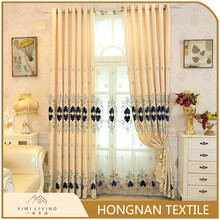 Best price of new designs embroidery office window curtain models