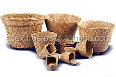 Eco-friendly plant fibre Biodegradable Flowerpots ,biodegradable coconut fiber pots
