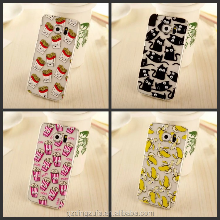 USA 3D Moving eyes case for Samsung Galaxy S7edge, Animal fruit cover for Samsung galaxy s7 edge