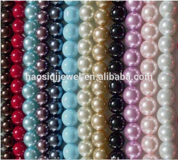 fashion jewelry making multicolor acrylic plastic pearl beads