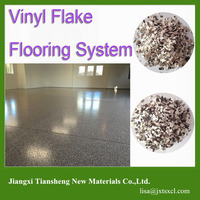 Vinyl Flakes Epoxy Flooring System Decorative Concrete Coatings