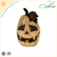 Outdoor polyresin decoration pumpkin garden halloween solar light
