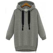 2015 oem china wholesale women hooded collar plain/blank tall pullover sweatshirt/hoodies made in china