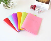 Women Men Silicone Travel Passport Holder Cover ID Credit Card Holder Wallet