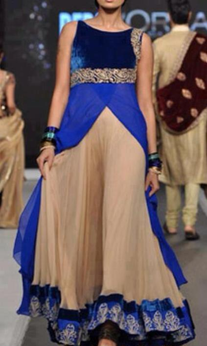 indian long flaired dress