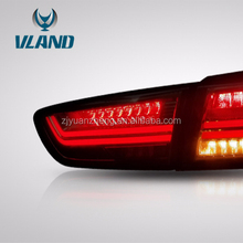 Vland LED Lancer Tail Lamp For 2010-Up Rear Light Red&Smoked Modification
