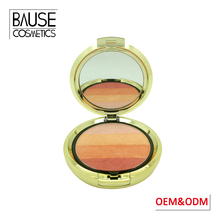 FDA approval waterproof baked mineral face make up cheek blusher 4 color blush makeup for all skin type