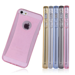 C&T Clear Glitter Jelly Color Soft TPU GEL Protective Case Covers for Apple iPhone 5/5s/SE