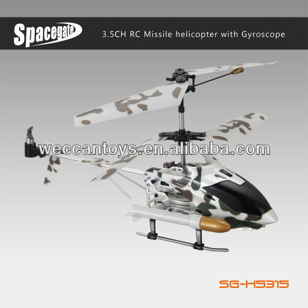 SG-H5315 3.5CH missile launcher helicopter with gyro