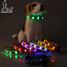 Flashing night pet supplies light led dog collar