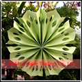 New Arrival Lime Green Pinwheel Paper Flower Fan wedding Hanging Decoration