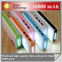 Batteries External Slim Polymer USB Powerbank 16800mah Power Bank Portable External Batery Pack Phone Charger for Samsung iphone
