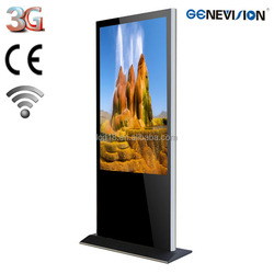 42 inch floor stand Lcd advertising board digital signage advertising display