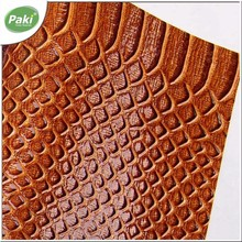 0.9mm PU embossed fake snake leather fabric for purse