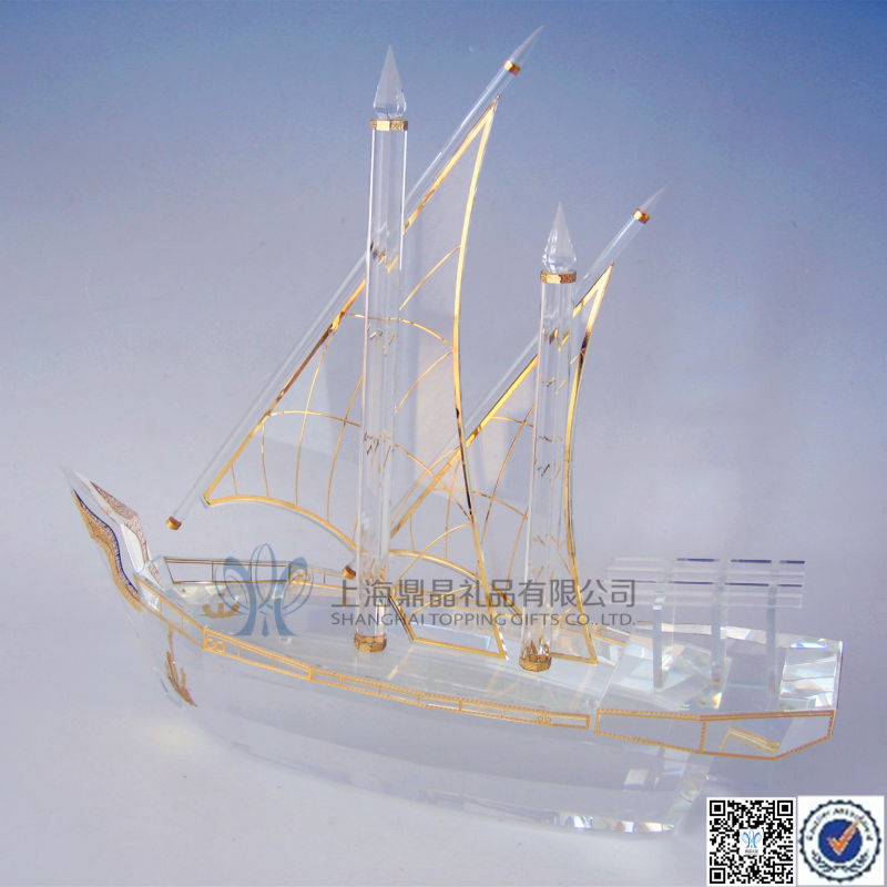 Decorative Crystal Arab Dhow For Sale