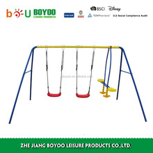 TOP quality Easy installation children's durable outdoor garden iron swing