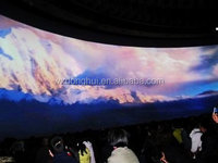 3D circular fixed frame projection screen