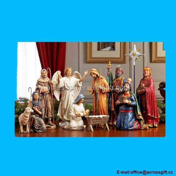 Christmas Nativity Set - Full 10 inch Real Life Nativity Set