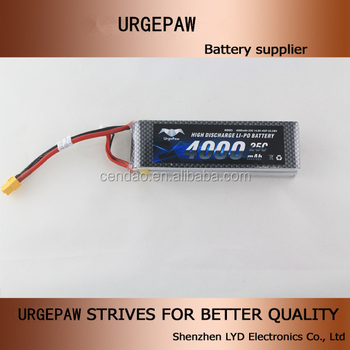 2016 new item 4S1P 25C 14.8V 4000mah rc lipo battery A grade long cycle 3.7V 4000mah battery