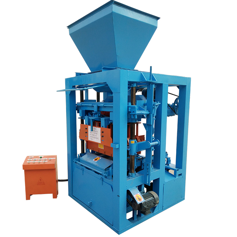 Small manual concrete block making machine