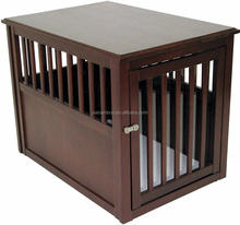 bamboo wood pet crate end table for bedroom or living room