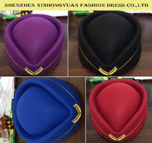 fashion high quality stewardess hat