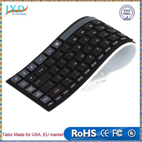 Ultra Thin Soft Silicone Flexible Wireless Bluetooth Keyboard Waterproof Washable Portable Keyboard for iPad Tablet Laptop Phone