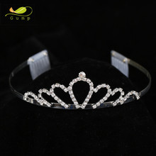 Cheap Wholesale Girls Hair Accessories Crown Comb Tiaras