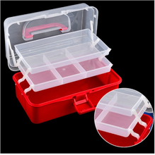 New Designed Hot Selling Nail Jewelry Storage Box Red Jewelry Tools Easy To Carry Storage Box Finishing Storage Box