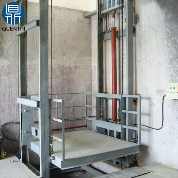 Guide rail type electric goods lift / warehouse cargo lift price