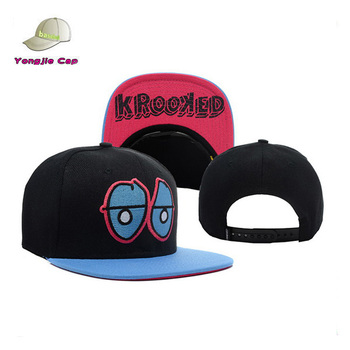 High Quality Blank Snapback Cap With Custom Brim