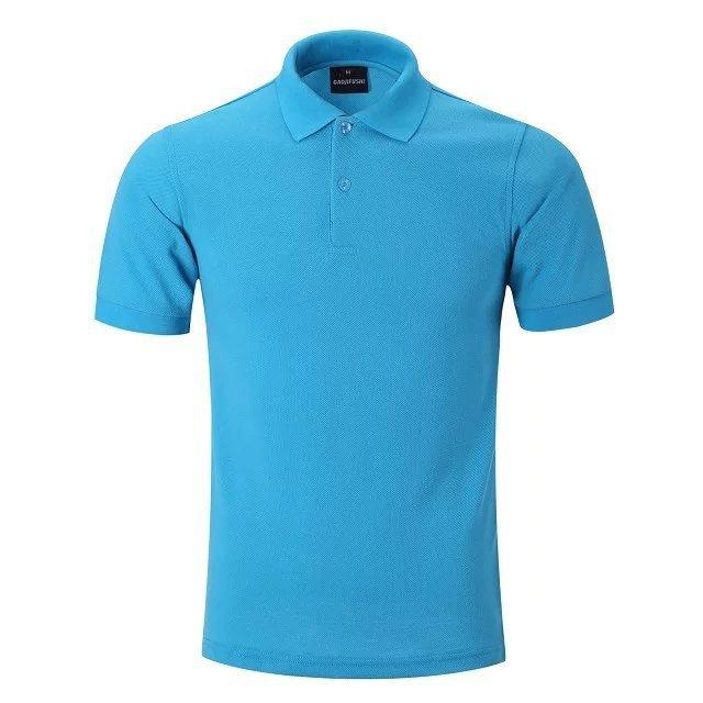 Custom slim fit uniform polo shirts for men 100% cotton wholesale