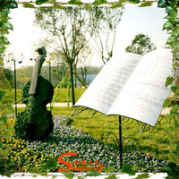 2015 Chinese hottest artificial landscape grass topiary violin instrument