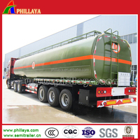 Bitumen tanker semi trailer, heated asphalt bitumen pitch tanker trailer