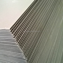 Grey Polypropylene PP Plastic Twin Wall Hollow Fluted Corrugated Cardboard Sheets