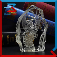 freedom 3d glass angle iceberg statue ,crystal favors
