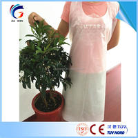 Polyethylene Material Disposable Cooking bib aprons For Kitchen Cleaning Food usage